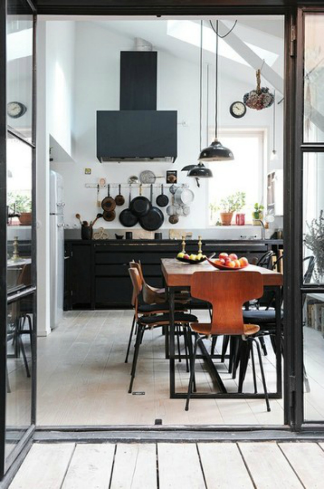 House kitchen designs on pinterest for Industrial windows for homes
