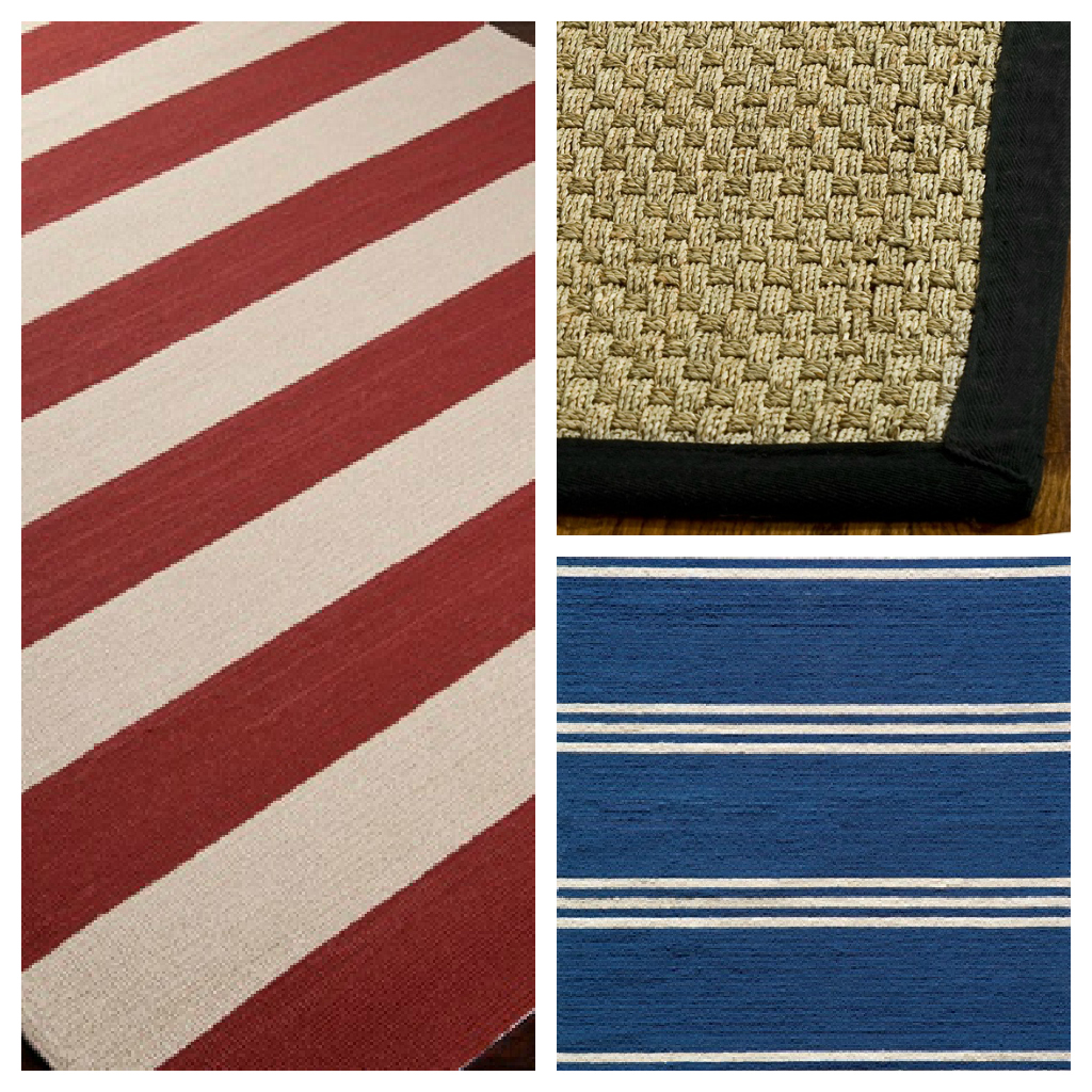 Red white and blue area rugs roselawnlutheran for Red and white striped area rug