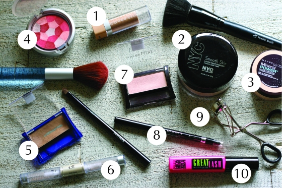 NookAndSea-Beach-Beauty-Routine-Makeup-Whats-In-My-Bag-Display-Arrangment-Layout-Presentation-Setup-Steps
