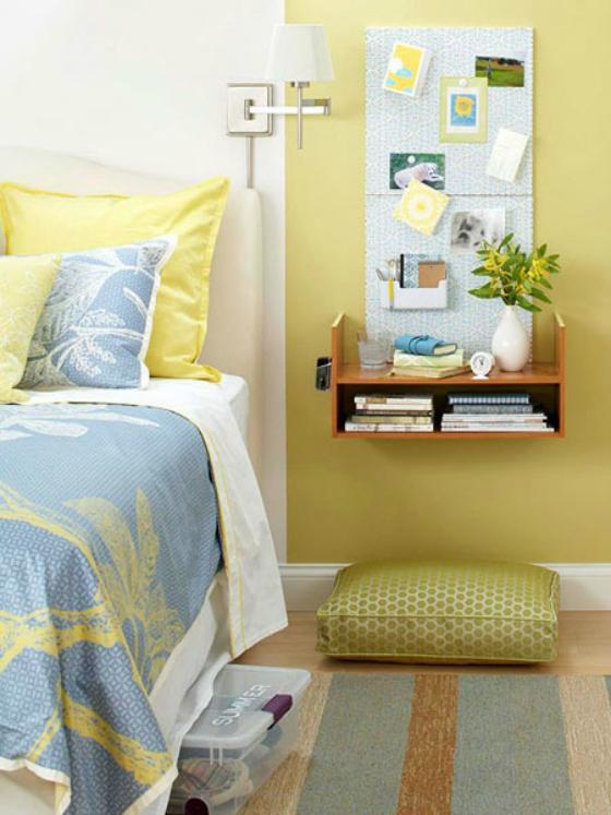 NookAndSea-Floating-Nightstand-Idea-Yellow-Blue-Dog-Bed-Bedroom