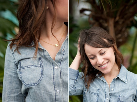 NookAndSea-Sorella-Muse-Photography-The-Portraiteer-Jean-Denim-Chambray-Shirt-Top-Button-Down-Gold-Necklace-Dainty-Disk-Disc-Circle-Round-Etsy-Constant-Baubling-Beach-Waves-Hair-Ocean-Fashion-Style-Look-Outfit
